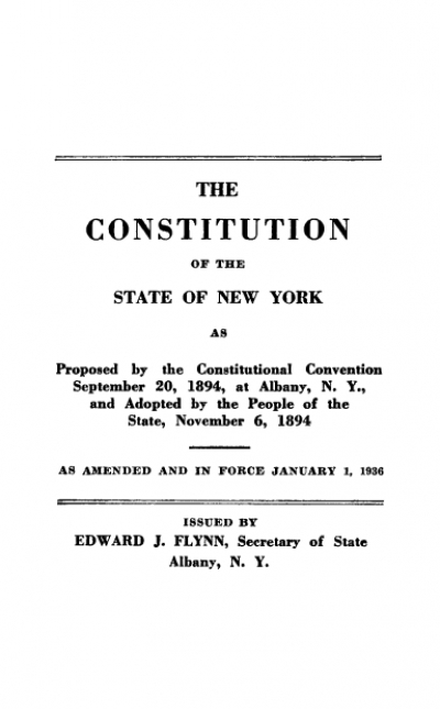 Historian Bruce Dearstyne discusses the Constitutional Convention in NYS