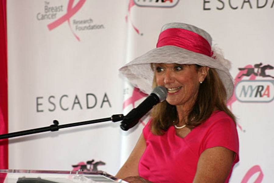 Benita Zahn talks about the Breast Cancer Walk in Washington Park