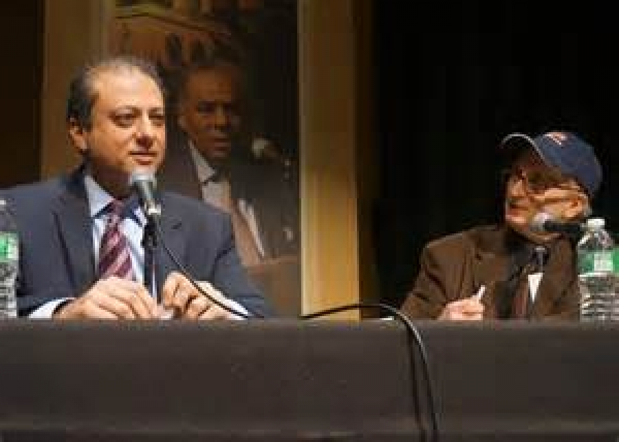 US Attorney Preet Bharara in Albany with Alan Chartock