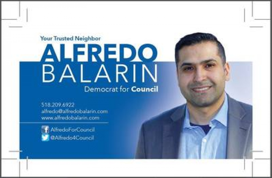 Alfredo Balarin discusses his candidacy for Albany City Council