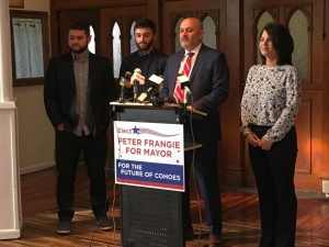 Peter Frangie discusses his candidacy for Cohoes Mayor